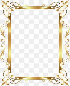 Gold Border Frame Deco Transparent Clip Art Image - Gold Frame Clip Art PNG