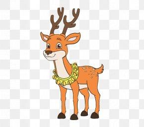 Reindeer - Reindeer Rudolph Santa Claus Drawing PNG