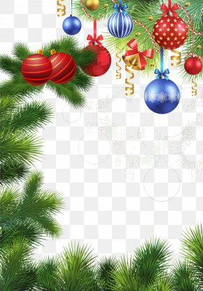 Covered Christmas Gifts Christmas Pine - Santa Claus We Wish You A Merry Christmas New Year's Day PNG