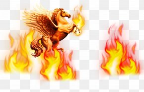 Fire Pegasus - Flame Fire PNG