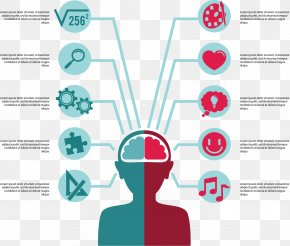 Left And Right Brain Controls The Partition - Brain Infographic Euclidean Vector Icon PNG