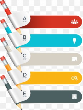 Vector Pencil Chart - Chart Infographic PNG