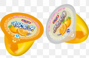 Orange Meat Jelly - Gelatin Dessert Nata De Coco Aspic Coconut Jam Coconut Milk PNG