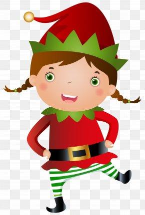Summer Elf Cliparts - Santa Claus Christmas Elf Clip Art PNG