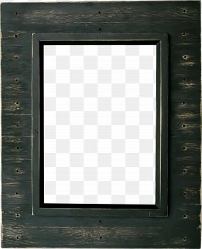 Beautiful Black Wood Frame - Window Picture Frame Square, Inc. Pattern PNG