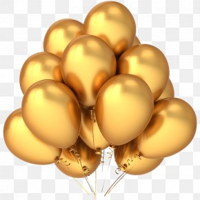 Gold Balloon - Balloon Gold Stock Photography Stock Illustration Clip Art PNG
