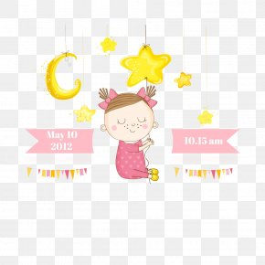 Female Baby Pull Buckle Creative Star HD Free - Euclidean Vector Photography Royalty-free PNG