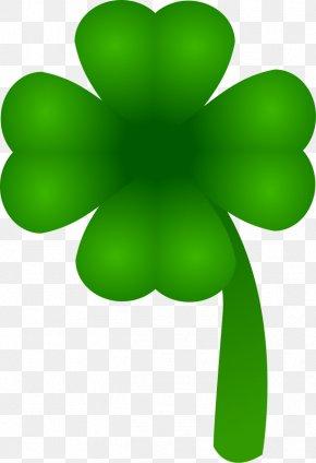 Four Leaf Clover Clipart - Ireland Saint Patrick's Day Four-leaf Clover Shamrock Clip Art PNG