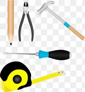 Installation Tool Screwdriver Ruler Hammer Pencil - Tool Screwdriver Clip Art PNG