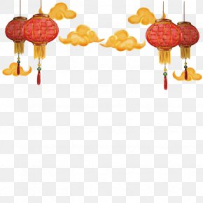 Vector Chinese Lantern Clouds - Chinese New Year Paper Lantern Christmas PNG