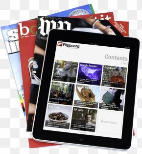 Magazines And IPAD - Social Media Magazine Flipboard Mobile App Application Software PNG