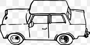 Auto Rickshaw - Car Trabant Coloring Book Clip Art PNG