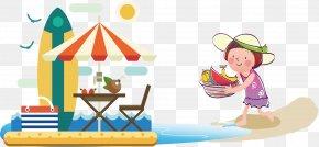 Summer Poster Element - Flat Design Beach PNG