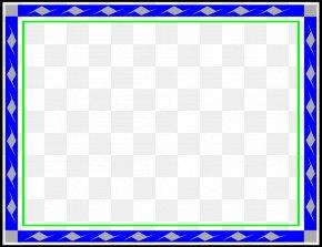 Blue Border Frame Transparent Background - Picture Frame Blue Clip Art PNG