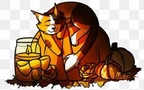 Cartoon Autumn Leaf Color - Autumn Leaf Drawing PNG