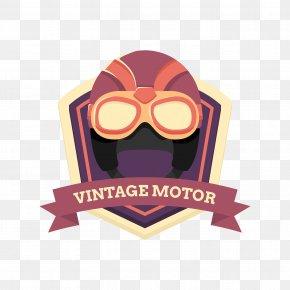 Vintage Motorcycle Helmet - Motorcycle Helmet Euclidean Vector PNG
