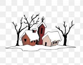 Dwarf Dwarf House - Snow Cartoon Igloo House Illustration PNG