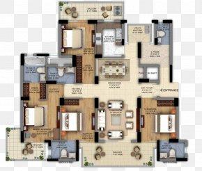Floor Plan - The Ultima DLF Floor Plan House Plan PNG