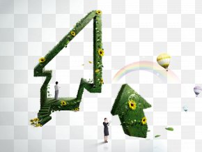 Flowers And Green Arrow Business People - Business Arrow Commerce PNG