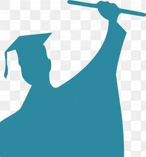 Graduation Congrats Cliparts - Student Graduation Ceremony Silhouette Clip Art PNG