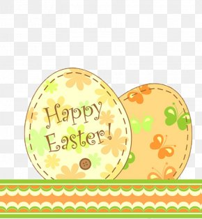 Easter Egg Decoration Material - Easter Postcard Greeting Card Clip Art PNG