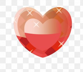 Vector Red Heart-shaped Diamond Flash - Red Heart PNG