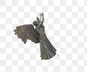 Hand Wings Creative Goddess Statue - Stone Sculpture Cherub Statue Angel PNG