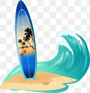 Beach Waves Cliparts - Surfboard Big Wave Surfing Clip Art PNG