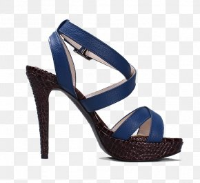 Blue High-heeled Sandals - Shoe High-heeled Footwear Sandal Dress PNG