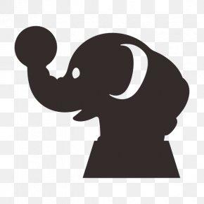 Elephant Icon - Clip Art Human Behavior Shoulder Silhouette Product Design PNG