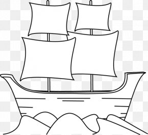 Silhouttee Mayflower Cliparts - Ship Piracy Boat Clip Art PNG