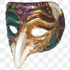 Long Nose Mask - Carnival Of Venice Mask Mardi Gras Masquerade Ball Costume PNG