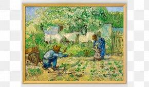 Van Gogh - First Steps, After Millet Metropolitan Museum Of Art Van Gogh Museum Painting Canvas PNG