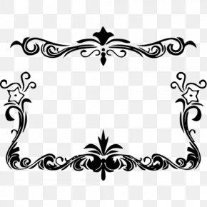 Design - Black And White Floral Design Clip Art PNG