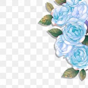 Blue Flowers - Blue Rose Garden Roses Floral Design Flower PNG