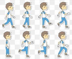 Cartoon Man Walking - Walking Cartoon Clip Art PNG