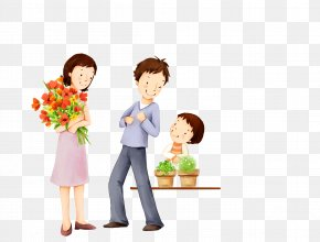 Family - Family Happiness Child Cartoon Illustration PNG