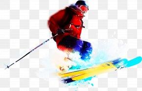 Winter Sport Ski Equipment - Skier Ski Freestyle Skiing Skiing Ski Pole PNG