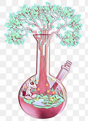 Plant Tree - Flowerpot Pink Tree Plant PNG