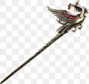 Phoenix Hairpin - Hairpin Hair Stick Designer PNG