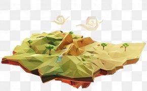Akvarel Illustration - Low Poly 3D Computer Graphics Cinema 4D Rendering 3D Modeling PNG