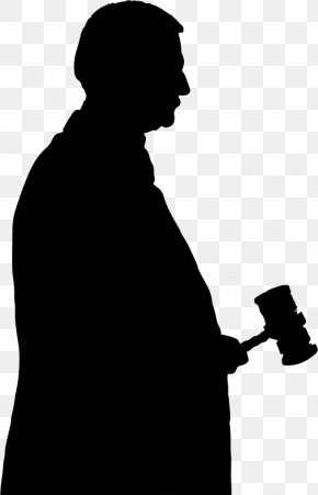 Silhouette Of Characters - Judge Gavel Silhouette Clip Art PNG
