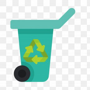 Green Trash Can - Waste Container PNG