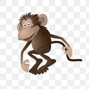 Naughty Monkey Vector Material - Cartoon Monkey Clip Art PNG