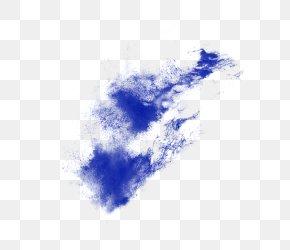 Blue Powder Explosion Splash Effect Material - Explosion Dust PNG