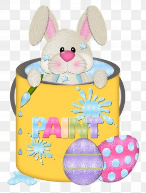 Easter Bunny In Cup Transparent Clipart - Easter Bunny Egg Hunt Rabbit Easter Egg PNG