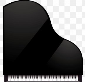 Vector Black Piano Top View - Piano Musical Keyboard Musical Instrument PNG