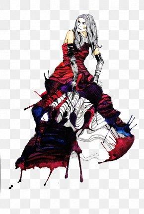 Women's Fashion Design Illustration - Model Designer Illustration PNG