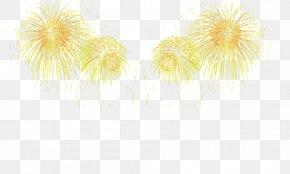 Beautiful Fireworks - Yellow Petal Pattern PNG