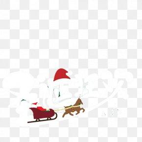 Santa's Reindeer Sleigh - Santa Clauss Reindeer Santa Clauss Reindeer Christmas PNG